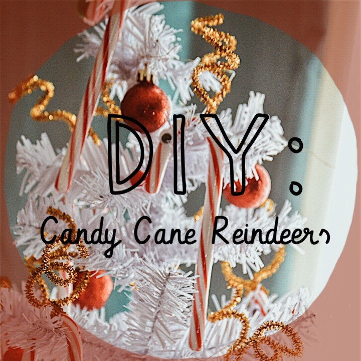 DIY Candy Cane Reindeers